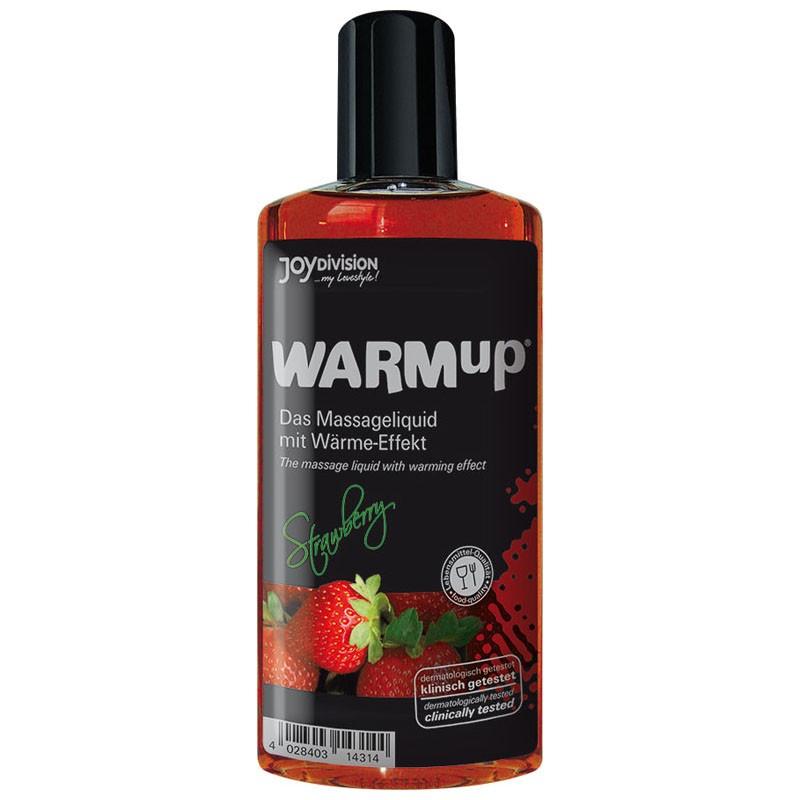 Warm Up massasjeolje - Jordbær