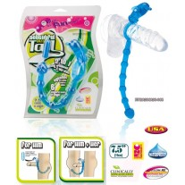 Delightful Butt Tail Penis Ring and Butt Plug Blue