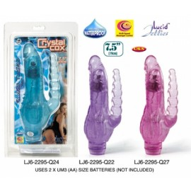 "Crystal Cox 7,5"" Jelly Krystals Vibrator - Purple"