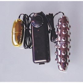 Vibrating Tickler w/Egg - Silver and Gold