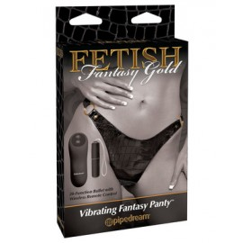 Vibrating Fantasy Panty Fetish Fantasy Gold Line by Pipedream Pr